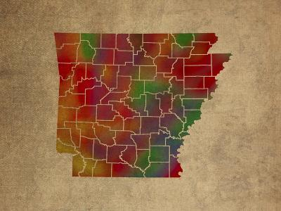 AR Colorful Counties-Red Atlas Designs-Giclee Print