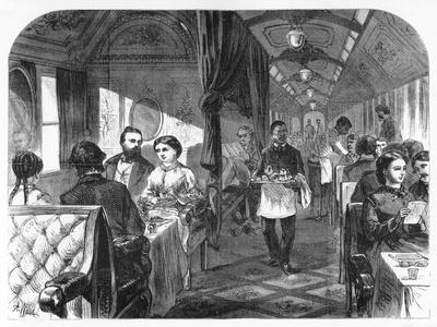 Palace Hotel Car, Union Pacific Railroad, C1870