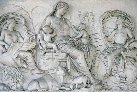 Ara Pacis Augustae. Tellus Panel--Giclee Print