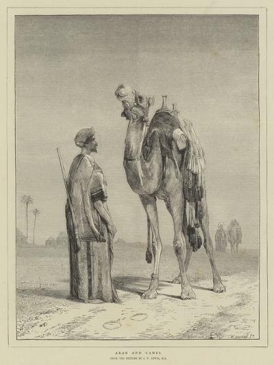 Arab and Camel-John Frederick Lewis-Giclee Print