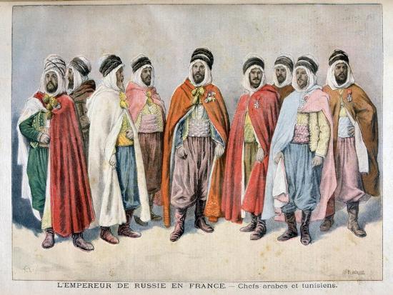 Arab and Tunisian Chiefs, 1896-Frederic Lix-Giclee Print