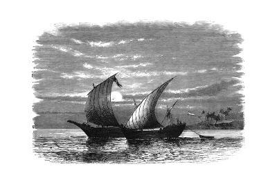 Arab Dhows on the Red Sea, C1890--Giclee Print
