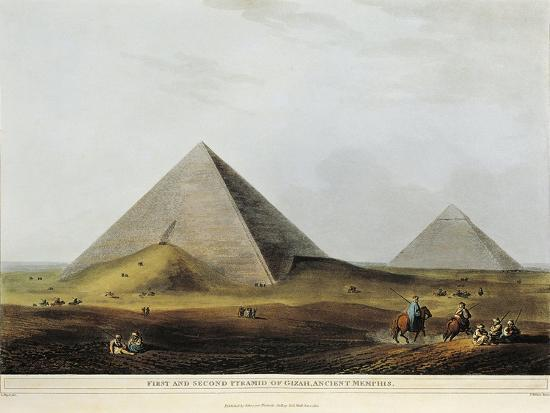 Arab Dwelling Built on Ancient Ruins Along the Menuf Canal in Egypt from Views in Egypt, 1804-Luigi Mayer-Giclee Print