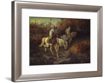 Arab Horsemen at the Edge of a Wood-Adolf Schreyer-Framed Giclee Print