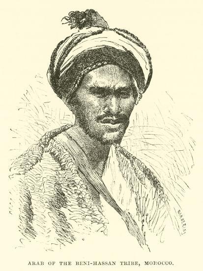 Arab of the Beni-Hassan Tribe, Morocco--Giclee Print