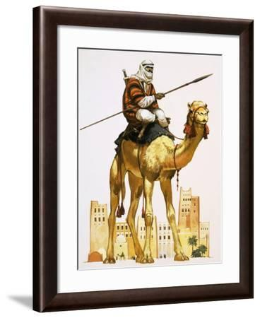 Arab on Camel-Angus Mcbride-Framed Giclee Print