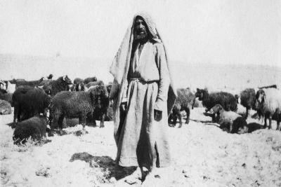 Arab Shepherd, Kazimain Area, Iraq, 1917-1919--Giclee Print
