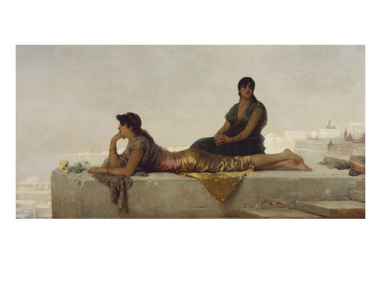 Arab Women on a Rooftop-Nathaniel Sichel-Giclee Print