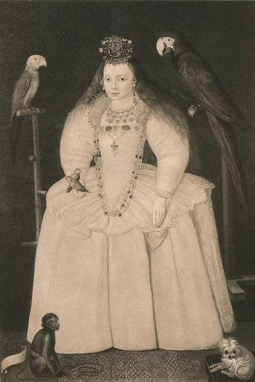 'Arabella Stewart', c16th century, (1904)-Marcus Gheeraerts, the Younger-Giclee Print