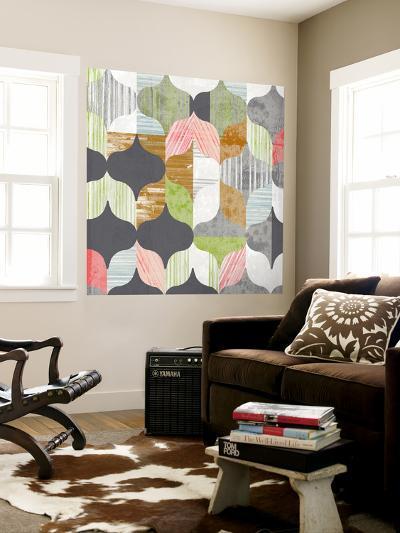Arabesque Shapes I-Jennifer Goldberger-Wall Mural