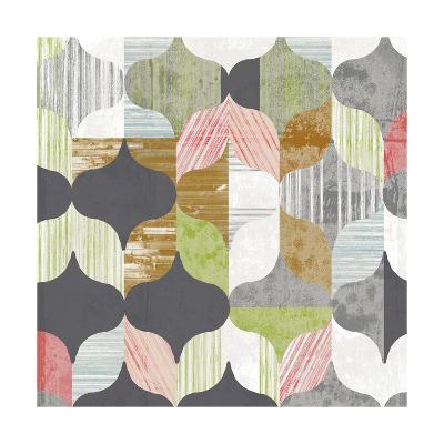 Arabesque Shapes I-Jennifer Goldberger-Art Print