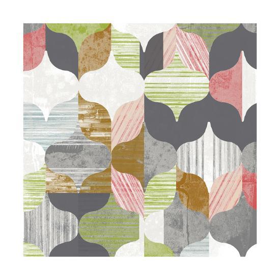 Arabesque Shapes II-Jennifer Goldberger-Art Print