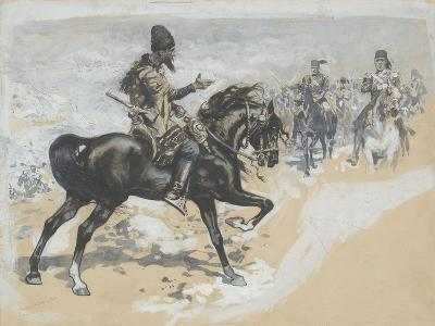Arabian Chief and Cavalrymen-Frederic Remington-Giclee Print