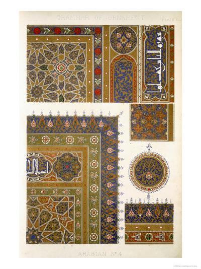 Arabian No 4, Plate XXXI, from The Grammar of Ornament by Owen Jones-Owen Jones-Giclee Print