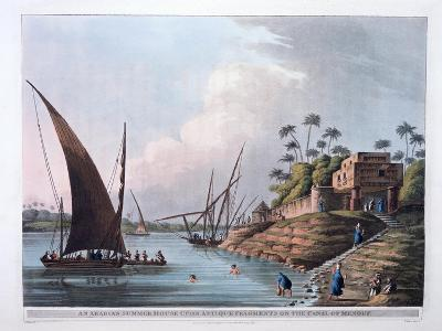 Arabian Summer House on the Canal of Menouf, Egypt, 1801-Thomas Milton-Giclee Print