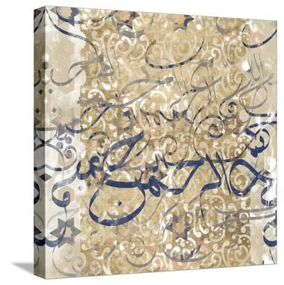 Arabic Abstract II-Jennifer Goldberger-Stretched Canvas Print