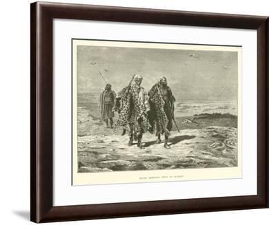 Arabs Bringing Skins to Market--Framed Giclee Print