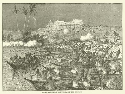 Arabs Massacring Manyuemas on the Lualaba--Giclee Print