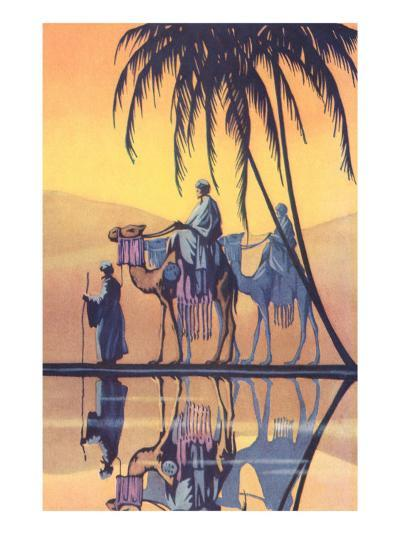 Arabs on Camels Along the Nile--Art Print