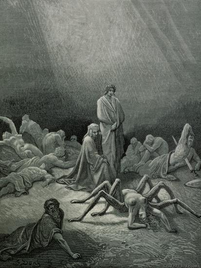 """Arachne, from the 12th Canto of Dante's """"Purgatory""""-Gustave Dor?-Giclee Print"""