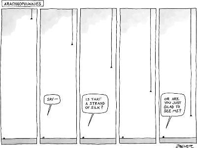 """Arachnophunnies"" - New Yorker Cartoon-Jack Ziegler-Premium Giclee Print"