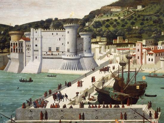 Aragonese Fleet Returning to Naples Victorious after the Battle of Ischia July 12, 1468--Giclee Print