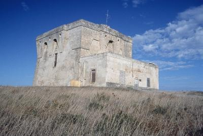Aragonese Watch Tower, 16th Century, Torre Guaceto Natural Reserve, Apulia, Italy--Photographic Print