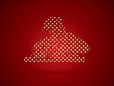 Welder Working Welding Designed Using Dots Pixels Graphic Vector