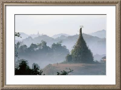 Photograph Print In Frame Myanmar Landscape And Culture