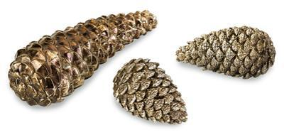 Arbor Metallic Pinecone Trio *