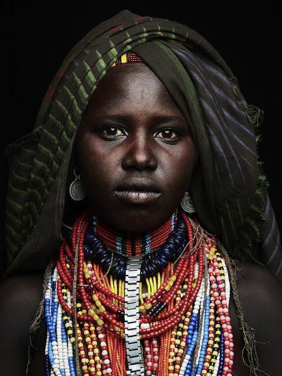 Arbore girl portrait, Ethiopia, Africa-Neil Thomas-Photographic Print
