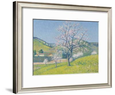 Arbres en Fleur a Alet-les-Bains, 1924-Achille Lauge-Framed Premium Giclee Print