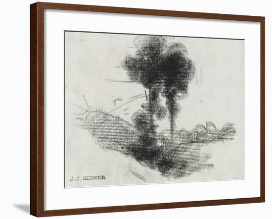Arbres-Jean Jacques Henner-Framed Giclee Print