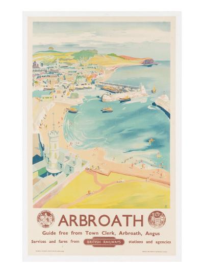 Arbroath, Poster Advertising British Railways, C.1950-English School-Giclee Print