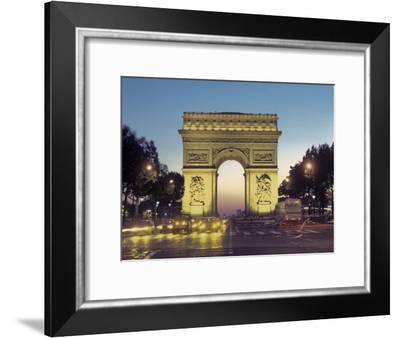Arc De Triomphe and the Champs-Elysees Boulevard at Dusk-Richard Nowitz-Framed Photographic Print