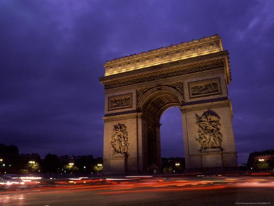 Arc de Triomphe, Champs-Elysees, Paris, France-Bill Bachmann-Photographic Print