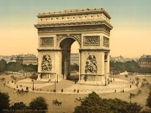 Arc de Triomphe, de l'Etoile, Paris, France, c.1890-1900