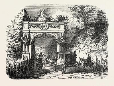 Arc De Triomphe Erected at the Entrance of Eaux-Bonnes--Giclee Print