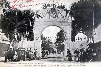 Arc De Triomphe Facade, Sidi Bel Abbes, Algeria, 14 July 1906- Boumendil-Giclee Print