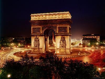 Arc de Triomphe in Place de L'Etoile at Night-Eliot Elisofon-Photographic Print