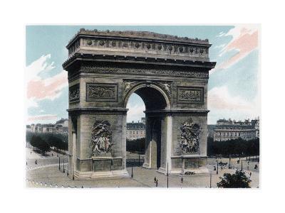 Arc De Triomphe, Paris, C1900--Giclee Print