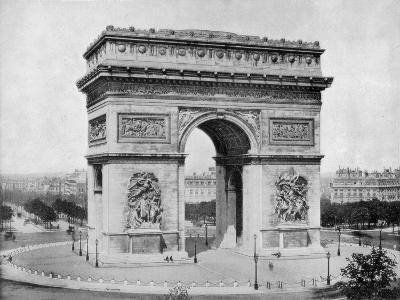 Arc De Triomphe, Paris, Late 19th Century-John L Stoddard-Giclee Print