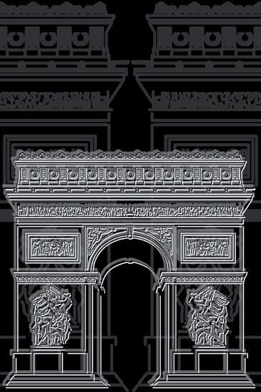 Arc De Triumph Night-Cristian Mielu-Art Print