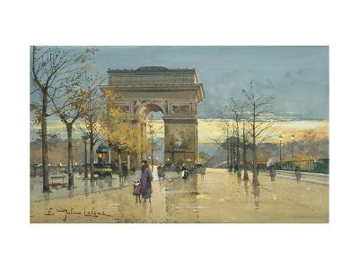 Arc de Triumphe-Eugene Galien-Laloue-Premium Giclee Print