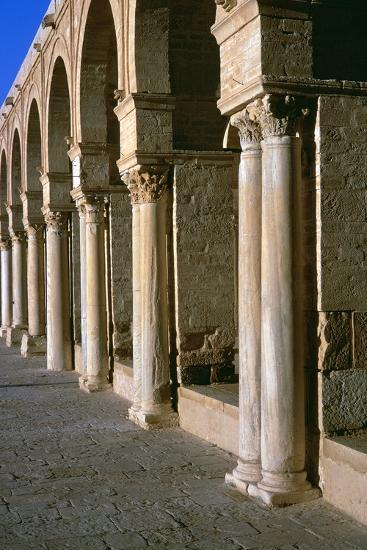 Arcade in the courtyard of the Great Mosque of Kairoun, 7th century-Unknown-Photographic Print