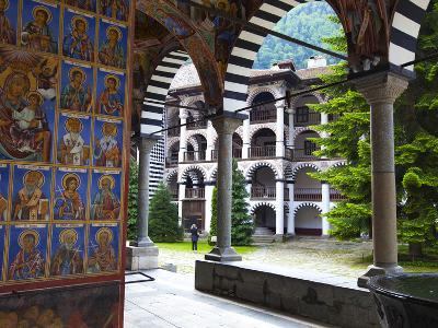 Arcade Murals Depicting Religious Figures, Church of the Nativity, Rila Monastery, UNESCO World Her-Dallas & John Heaton-Photographic Print