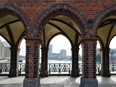 Arcade of a Bridge, Oberbaumbruecke, Spree River, Berlin, Germany--Photographic Print