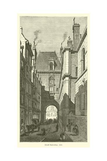 Arcade Saint-Jean, 1830--Giclee Print