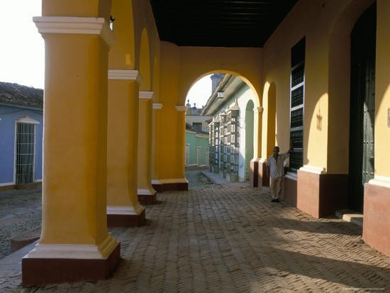 Arcades of the Maison Romantique, Town of Trinidad, Unesco World Heritage Site, Cuba-Bruno Barbier-Photographic Print