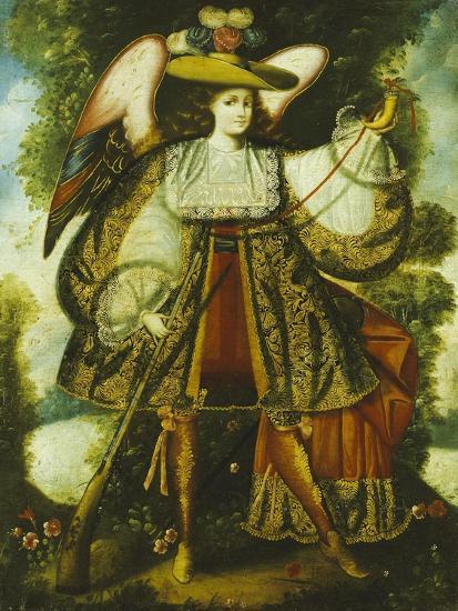 Arcangel Con Arcabuz Y, Cuzco School, 18th Century--Giclee Print